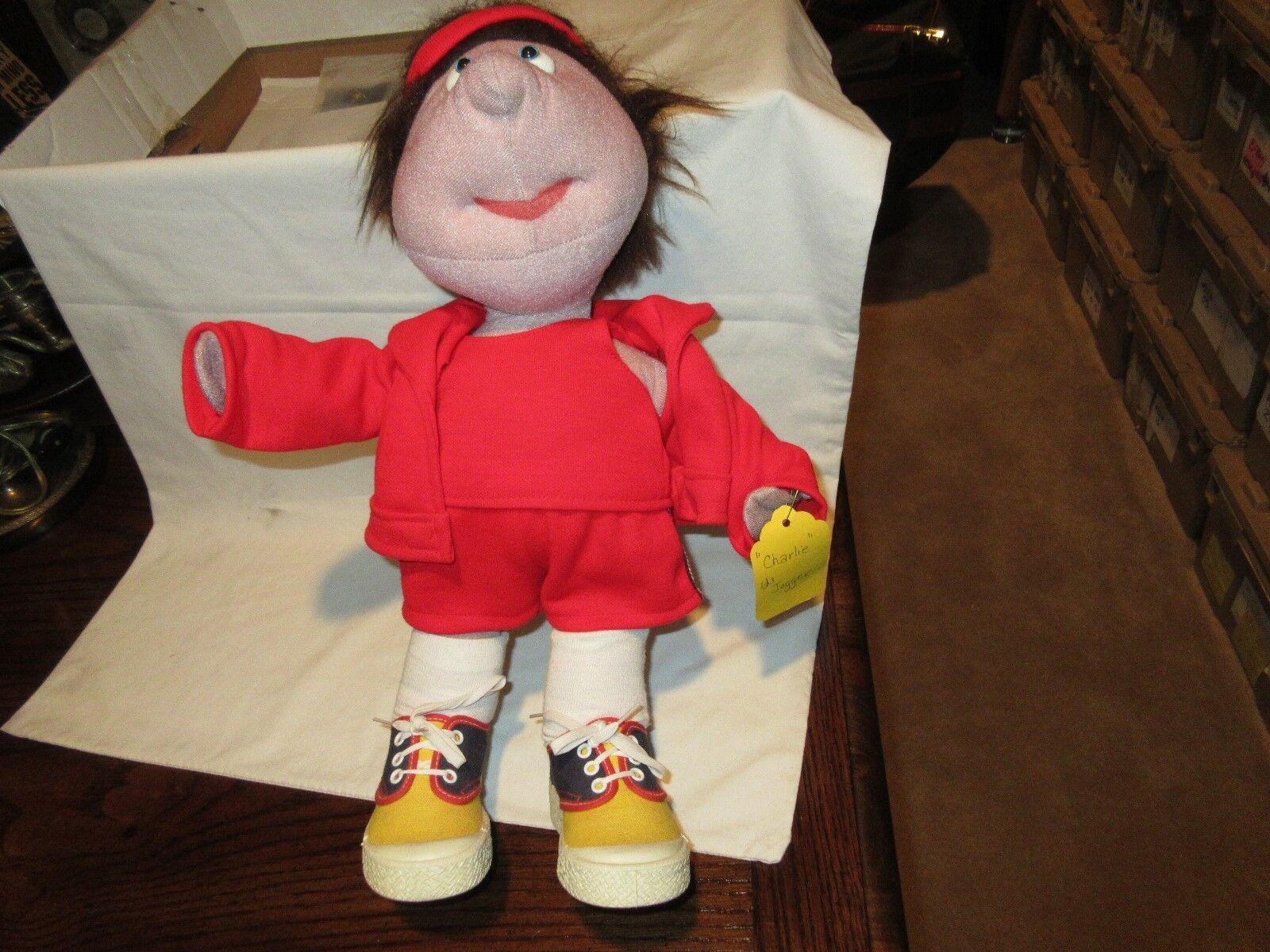 "Soft Sculptured Doll , Jogger , 16"" X 11"" , Plush"