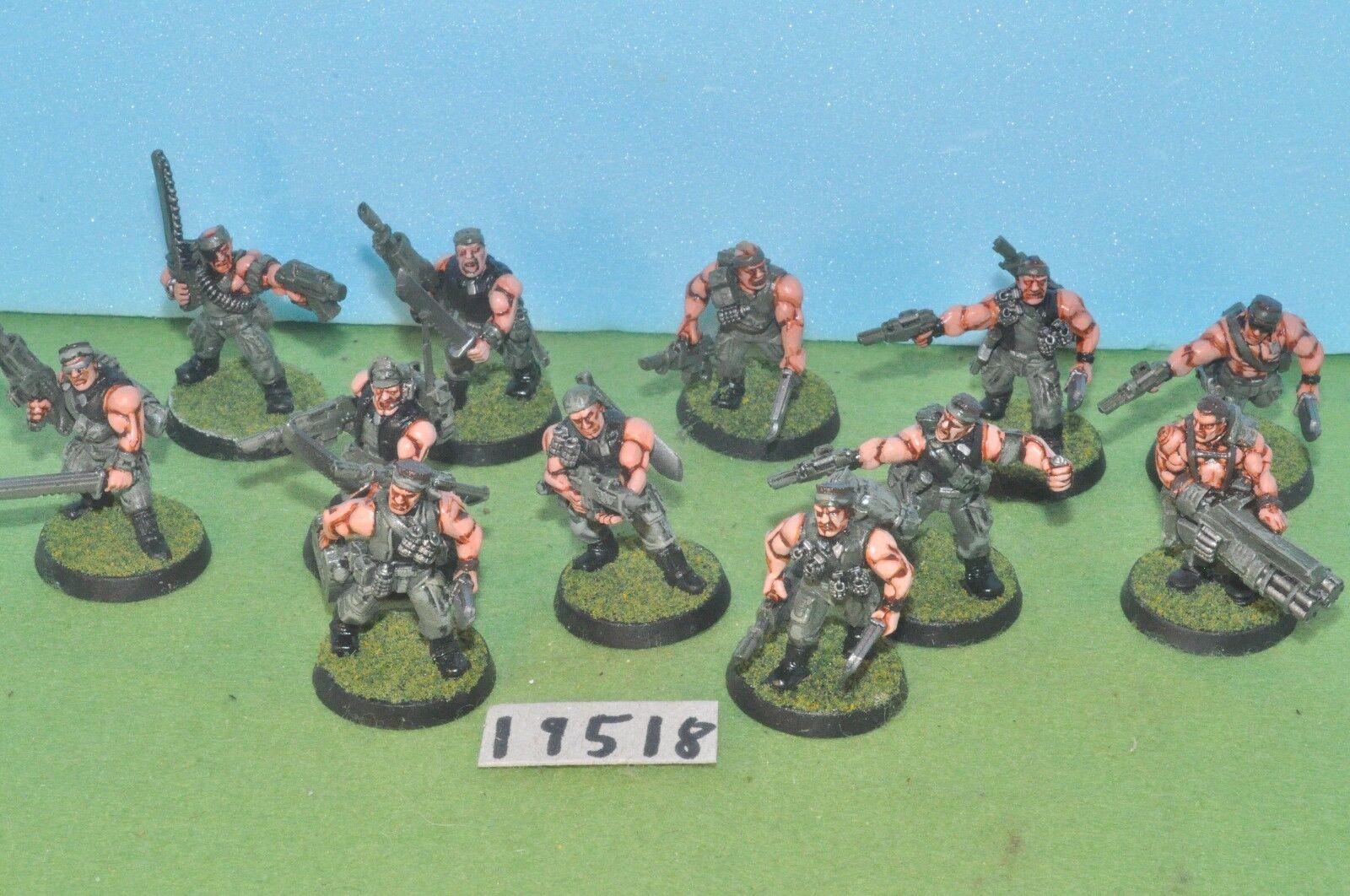 Item scifi   imperial guard - 12 catachan commandos 2 metal 40k - (19518)