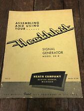 Heathkit Sg 8 Ham Radio Am Signal Generator Assembly Amp Operation Manual