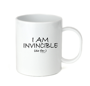 Details about  /Coffee Cup Travel Mug 11 15 Oz I Am Invincible So Far Funny