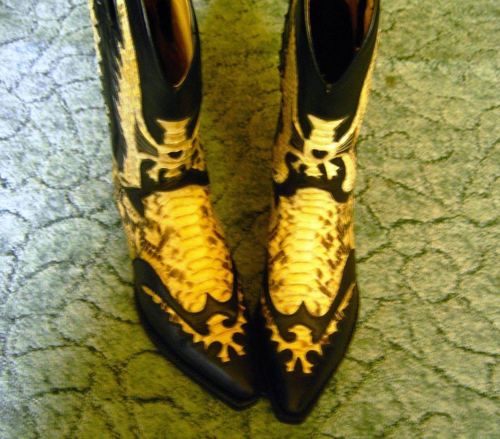 Angesagte Pythonleder-Stiefel im 37 Western-Style -rahmengen. LS -Gr. 37 im - rar - Neu 4776bb