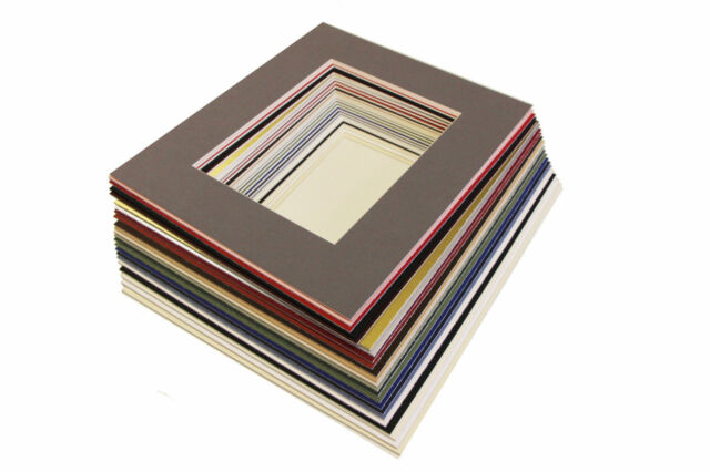 """5x7/"""" Picture// Photo Bevel Edge Mount with 4x6/"""" Aperture Lots of Colours"""