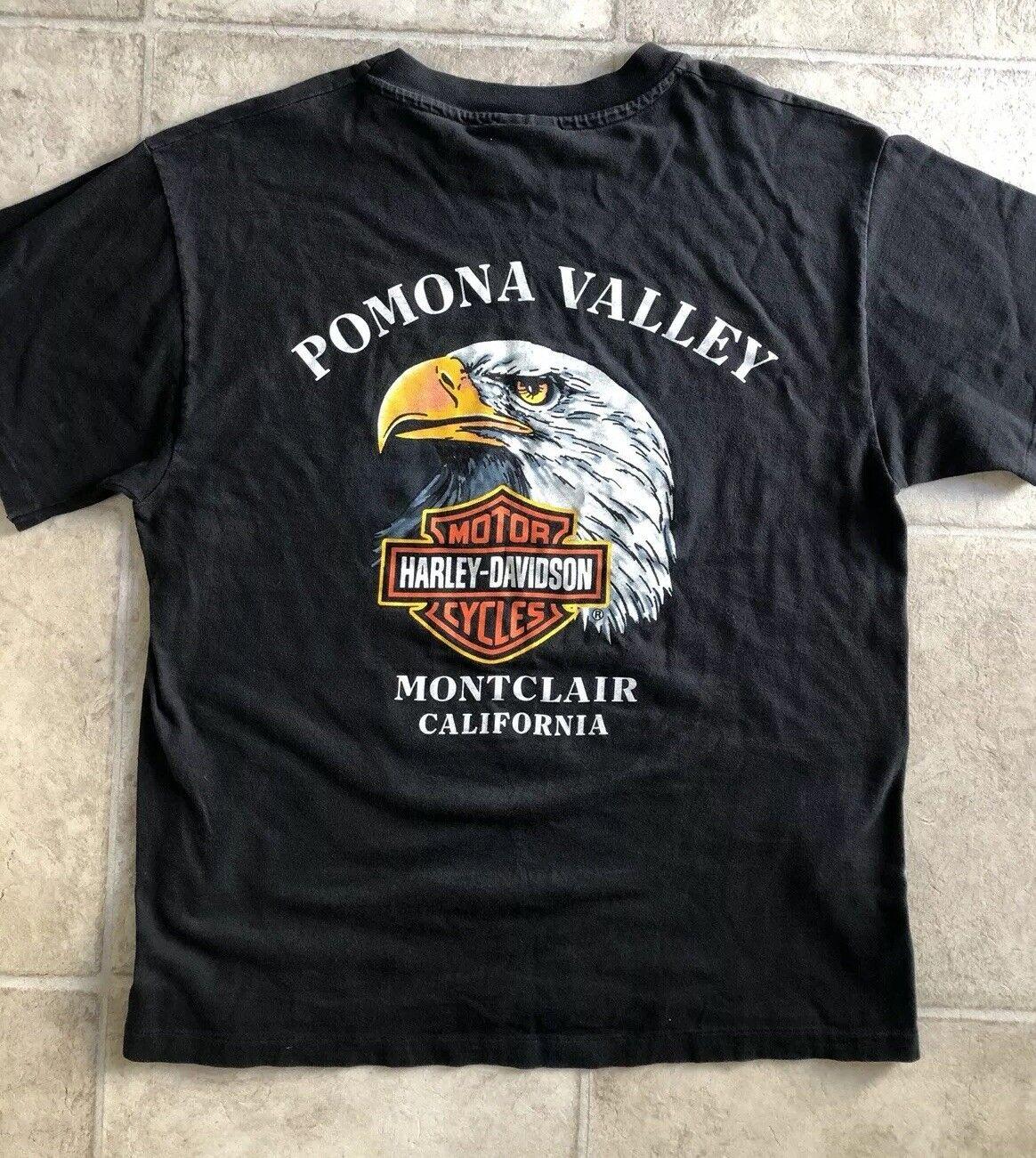 Vintage Harley Davidson CALIFORNIA Pomona Valley T-shirt Motorcycle