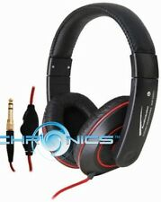AUDIOBAHN AHP350J OVER THE HEAD BLAZE HEADPHONES 40MM DRIVER AND IN-LINE VOLUME