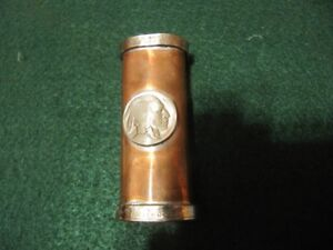 HAND HAMMERED COPPER LIGHTER CASE BUFFALO NICKEL// GEORGIA STATE 25C COIN RINGS