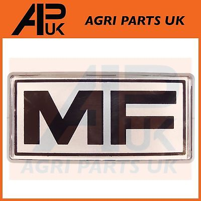 massey ferguson 200 600 serie tractor front grill badge mf