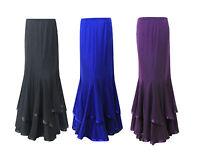 Stylish Ladies Full Length Long Maxi Skirt Uk Size 10 12 14 16 18 20 22 24 New.