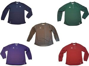 adidas-Men-039-s-Climalite-Long-Sleeve-Henley-Shirt-Choose-Colors-amp-Sizes-Up-to-4XLT