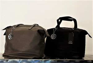 Ax armani exchange borsa shopping bag hobo nera