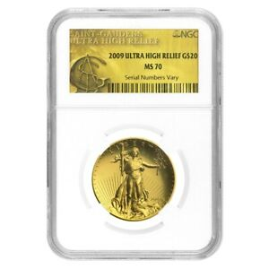 2009-1-oz-20-Ultra-High-Relief-Saint-Gaudens-Gold-Double-Eagle-NGC-MS-70