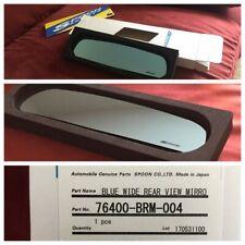 Spoon Genuine Blue Wide Rear Room Mirror For Honda Cr Z Zf1 Zf2 76400 Brm 004