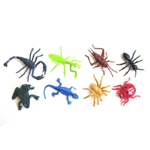 8pcs//set Plastic Insect Reptile Model Figures Kids Favor Educational Toys ZP