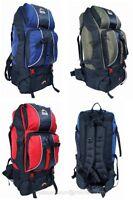 Camping Rucksack Backpack Hiking Festival Ay Back Bag Blue Green Red 60l 60