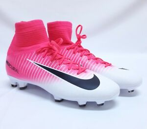 finest selection 78a4d 6e6e5 Details about Nike Jr. Size 4.5y Mercurial Superfly 5 V FG Pink Black White  Soccer Cleats NIB