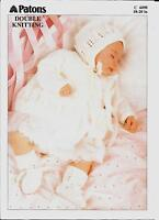 "Patons 4498 Vintage Baby Knitting Pattern DK 18-20"" Bonnet Cardigan Bootees"