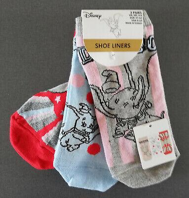 3 Paar Damen Socken Disney Fan Logo Strümpfe Kurz Bunt Witzig 37-42 Primark