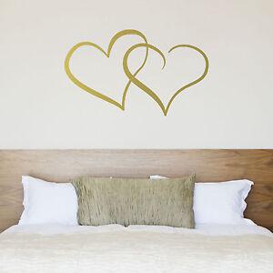 Interlocking Hearts Wall Sticker / Love Heart Sticker for Couple\'s ...