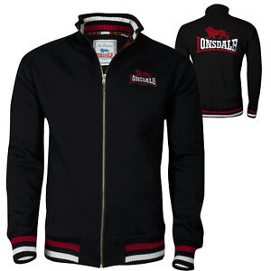 Lonsdale-DOVER-Black-Zip-Jacket-Sweatshirt-Embroidered-Back-Logo-Regular-Fit