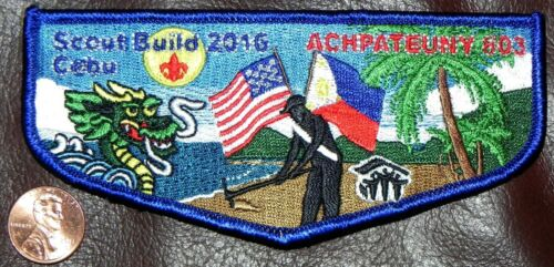 ONLY 20 MADE! ACHPATEUNY OA 498 803 FAR EAST SCOUT BUILD 2016 BLUE FLAP SOLDOUT