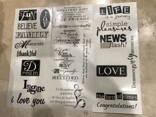 CREATIVE MEMORIES POWER PALETTE BLACK AND WHITE TITLES STICKERS NIP
