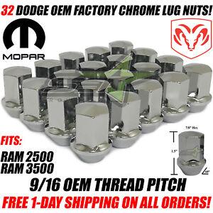 9-16-18-32-Lug-Nuts-For-Dodge-OEM-Factory-Style-lugs-Fits-Ram-2500-3500-Trucks