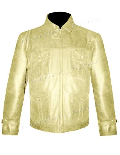 Jason Statham los indestructibles GENUINO CUERO MOTORISTA bombardero de la chaqueta de moto #553
