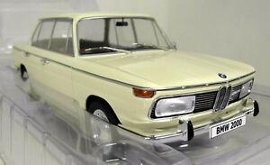 MCG-1-18-Scale-18043-1966-BMW-2000-Beige-Sealed-body-resin-cast-model-car