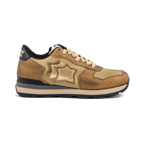 Atlantic Nylon In Vega Italy 79n E Pelle Sneakers Made Ob Oro Donna Stars q6rTPwqF