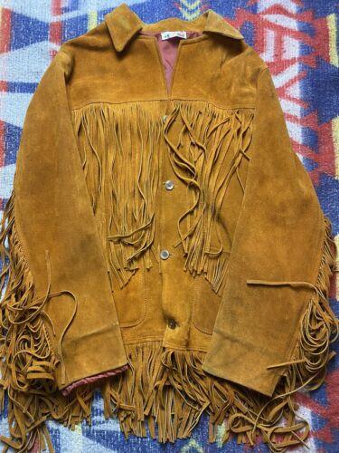 1940s Vintage Fringe Suede Leather Jacket Rockabil