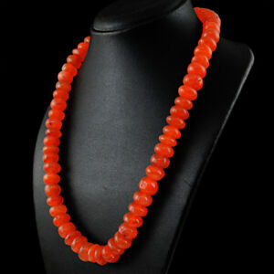 730-00-Cts-Natural-Orange-Carnelian-Round-Shape-Beads-Single-Strand-Necklace
