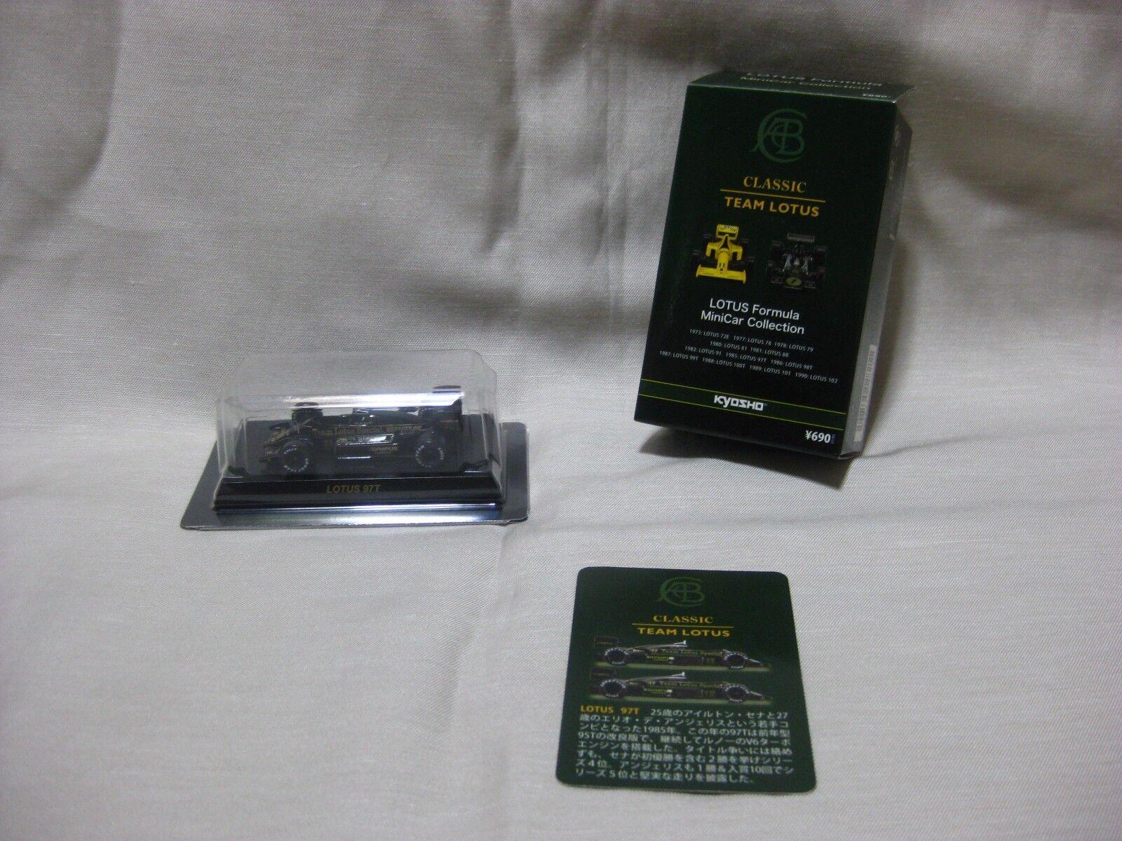 1 64 Kyosho Kyosho Kyosho Lotus 97T No.11 Coche Modelo Diecast Fórmula 5b7e96
