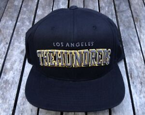 NEW-RHTHUN-19-THE-HUNDREDS-SKATE-TEAM-LOS-ANGELES-H-BLACK-MENS-SNAPBACK-HAT