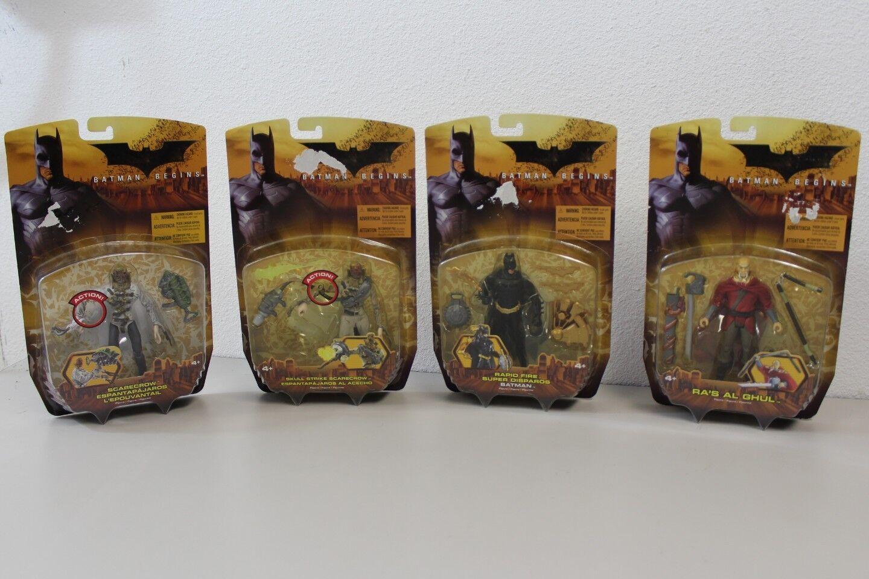 Lot of 4 2005 Batman Begins Action Figures All NEW In Box NIB