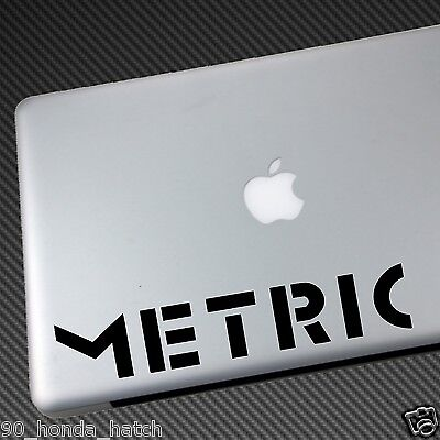 Metric Vinyl Sticker Decal Band Cd Tickets Pagans In Vegas