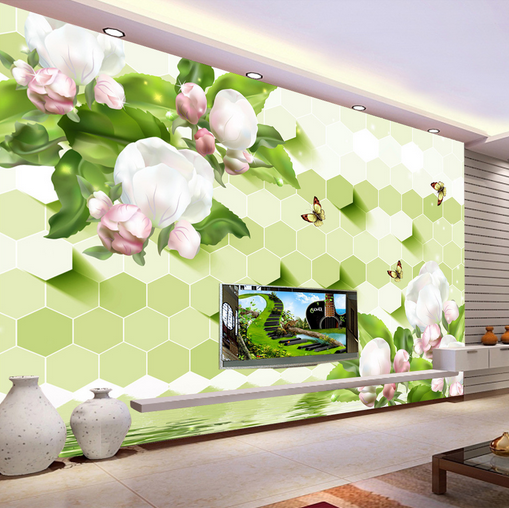 3D Grün Leaf Flowers 1420 Paper Wall Print Wall Decal Wall Deco Indoor Murals