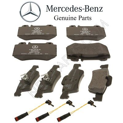 For Mercedes C215 CL500 Front and Rear Brake Pad Sets /& 3 Sensors Kit Genuine