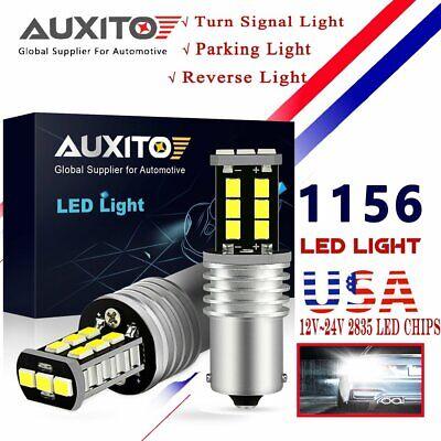 2x White Canbus Error Free 19-LED 1156 BA15S P21W 1129 Backup Car DRL Bulbs Lamp