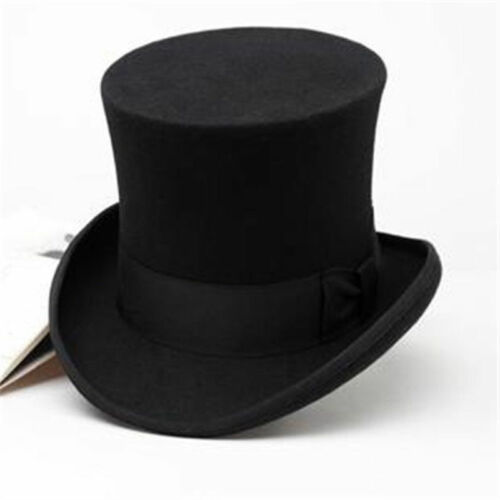 HOT Retro Topper Party Perform Magic Derby Cap British Height Mad Hatter Top Hat