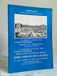 Catalogue Di Vendita Versailles Gioielli Argenteria, Arte 22 Juillet 1970