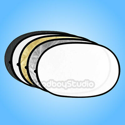 "Godox Studio Photo 5 in 1 Collapsible 150x200cm / 60"" x 79"" Oval Reflector Disc"