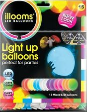 ILLOOM LED LIGHT UP BALLOONS 15 PACK MIXED