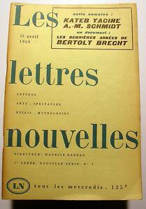 BRECHT-YACINE-NADEAU-LETTRES-NOUVELLES-1959-N-7