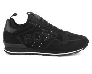 new styles 12c6c b7775 Details zu Hugo Boss Parkour Runn Logo 50397617 001 Herren Turnschuhe  Schwarze Schuhe