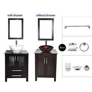 Bathroom vanity cabinet vessel sink bath accessory set - Bathroom vanity and mirror combo ...
