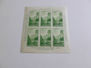 United-States-Scott-751-Mint-Never-Hinged-1-cent-National-Parks-Souvenir-Sheet