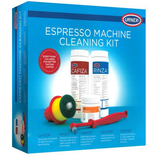 Urnex Espresso Coffee Machine Cleaning / Maintenance Kit- Cafiza -Grindz-Brushes 634158928215