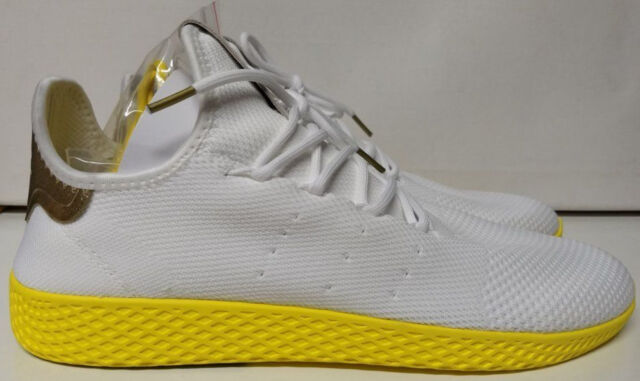 662537525ae58 Adidas PW Tennis HU Size 13 Pharrell Williams Human Race White Yellow BY2674