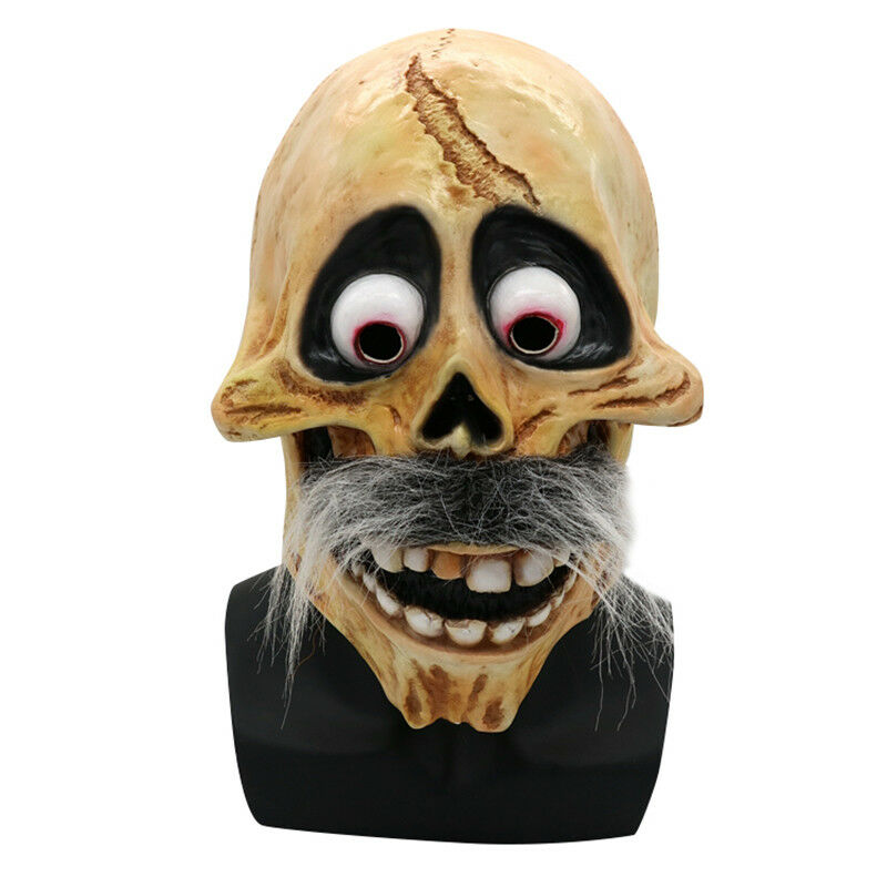 Cosplay Movie CoCo Hector Skull Latex Mask Costume Halloween Full Head Mask Prop