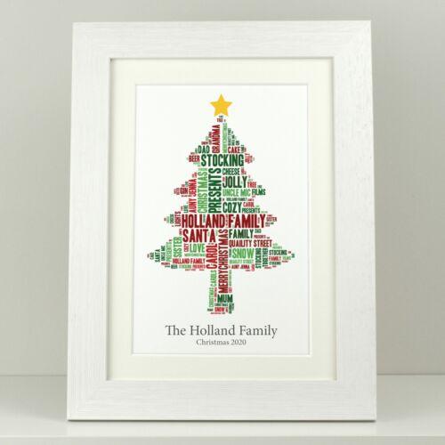 Christmas decoration Personalised family Christmas word tree Xmas present
