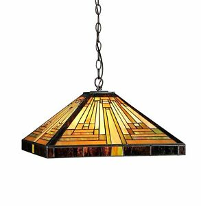 Details About Pool Table Light Fixture Tiffany Style Game Room Decor Lamp  Kitchen Dining Table